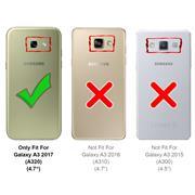 Hülle Carbon für Samsung Galaxy A3 2017 Schutzhülle Handy Case Hybrid Cover
