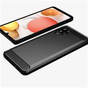 TPU Hülle für Samsung Galaxy A42 5G Handy Schutzhülle Carbon Optik Schutz Case