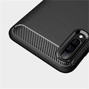 Handy Hülle für Samsung Galaxy A50 Backcover Case im Carbon Design