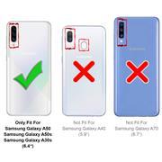 Hülle Carbon für Samsung Galaxy A50 Schutzhülle Handy Case Hybrid Cover