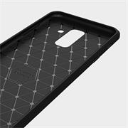 Handy Hülle für Samsung Galaxy A6 Plus Backcover Case im Carbon Design