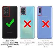TPU Hülle für Samsung Galaxy A72 5G Handy Schutzhülle Carbon Optik Schutz Case
