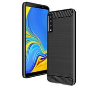 Handy Hülle für Samsung Galaxy A7 2018 Backcover Case im Carbon Design