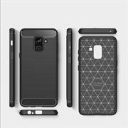 Handy Hülle für Samsung Galaxy A8 Plus 2018 Backcover Case Carbon Look