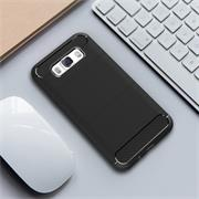 Handy Hülle für Samsung Galaxy J3 2016 Backcover Case im Carbon Design