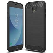 Handy Hülle für Samsung Galaxy J3 2017 Backcover Case im Carbon Design