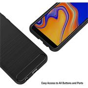 Handy Hülle für Samsung Galaxy J4 Plus Backcover Case im Carbon Design