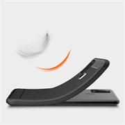 TPU Hülle für Samsung Galaxy M31 Handy Schutzhülle Carbon Optik Schutz Case