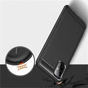 TPU Hülle für Samsung Galaxy M51 Handy Schutzhülle Carbon Optik Schutz Case