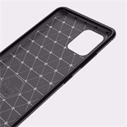 TPU Hülle für Samsung Galaxy Note 10 Lite Handy Schutzhülle Carbon Optik Schutz Case