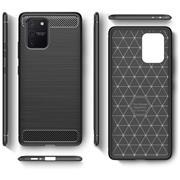 TPU Hülle für Samsung Galaxy S10 Lite Handy Schutzhülle Carbon Optik Schutz Case