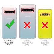 Hülle Carbon für Samsung Galaxy S10 Schutzhülle Handy Case Hybrid Cover