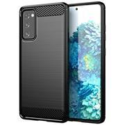 TPU Hülle für Samsung Galaxy S20 FE Handy Schutzhülle Carbon Optik Schutz Case