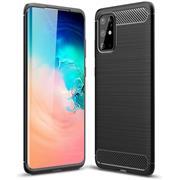 TPU Hülle für Samsung Galaxy S20 Plus Handy Schutzhülle Carbon Optik Schutz Case