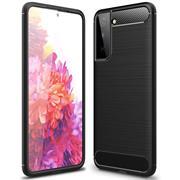 TPU Hülle für Samsung Galaxy S21 Plus Handy Schutzhülle Carbon Optik Schutz Case