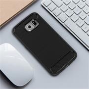 Handy Hülle für Samsung Galaxy S6 Edge Backcover Case im Carbon Design
