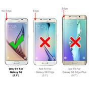 Hülle Carbon für Samsung Galaxy S6 Schutzhülle Handy Case Hybrid Cover