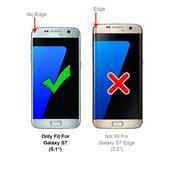 Hülle Carbon für Samsung Galaxy S7 Schutzhülle Handy Case Hybrid Cover