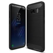 Handy Hülle für Samsung Galaxy S8 Plus Backcover Case im Carbon Design