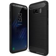 Schutzhülle für Samsung Galaxy S8 Dünn Matt Schwarz Handy Case Cover Hülle