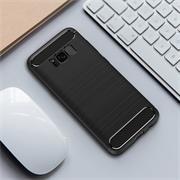 Hülle Carbon für Samsung Galaxy S8 Schutzhülle Handy Case Hybrid Cover
