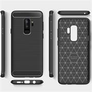 Hülle Carbon für Samsung Galaxy S9 Plus Schutzhülle Handy Case Hybrid Cover