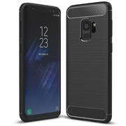 Handy Hülle für Samsung Galaxy S9 Backcover Case im Carbon Design