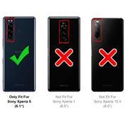 TPU Hülle für Sony Xperia 5 Handy Schutzhülle Carbon Optik Schutz Case