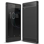 Handy Hülle für Sony Xperia XA1 Backcover Case im Carbon Design