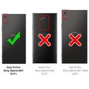 TPU Hülle für Sony Xperia XA1 Handy Schutzhülle Carbon Optik Schutz Case