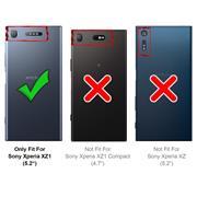TPU Hülle für Sony Xperia XZ1 Handy Schutzhülle Carbon Optik Schutz Case