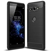 Handy Hülle für Sony Xperia XZ2 Compact Backcover Case Carbon Design