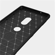 Handy Hülle für Sony Xperia XZ3 Backcover Case im Carbon Design