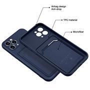 Silikon Handyhülle für Apple iPhone 11 Pro Hülle mit Kartenfach Slim Wallet Case
