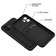 Silikon Handyhülle für Apple iPhone 11 Hülle mit Kartenfach Slim Wallet Case