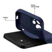 Silikon Handyhülle für Apple iPhone 12 Hülle mit Kartenfach Slim Wallet Case