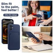 Silikon Handyhülle für Apple iPhone 12 Mini Hülle mit Kartenfach Slim Wallet Case