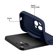 Silikon Handyhülle für Apple iPhone 12 Pro Hülle mit Kartenfach Slim Wallet Case