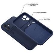 Silikon Handyhülle für Apple iPhone 13 Mini Hülle mit Kartenfach Slim Wallet Case