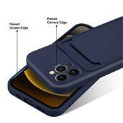Silikon Handyhülle für Apple iPhone 13 Pro Max Hülle mit Kartenfach Slim Wallet Case