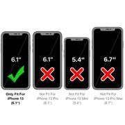 Silikon Handyhülle für Apple iPhone 13 Hülle mit Kartenfach Slim Wallet Case