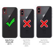 Silikon Handyhülle für Apple iPhone XR Hülle mit Kartenfach Slim Wallet Case