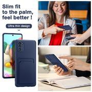 Silikon Handyhülle für Samsung Galaxy A02s Hülle mit Kartenfach Slim Wallet Case