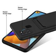 Silikon Handyhülle für Samsung Galaxy A21s Hülle mit Kartenfach Slim Wallet Case