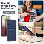 Silikon Handyhülle für Samsung Galaxy A42 5G Hülle mit Kartenfach Slim Wallet Case