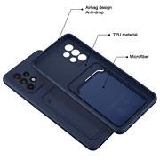Silikon Handyhülle für Samsung Galaxy A72 Hülle mit Kartenfach Slim Wallet Case