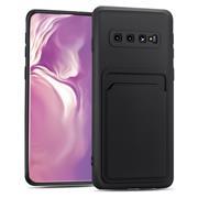 Silikon Handyhülle für Samsung Galaxy S10 Plus Hülle mit Kartenfach Slim Wallet Case