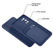 Silikon Handyhülle für Samsung Galaxy S20 Hülle mit Kartenfach Slim Wallet Case