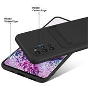 Silikon Handyhülle für Samsung Galaxy S20 Plus Hülle mit Kartenfach Slim Wallet Case
