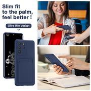 Silikon Handyhülle für Samsung Galaxy S20 Ultra Hülle mit Kartenfach Slim Wallet Case
